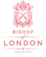 The Bishop of London's crest and motto - Amor Vincit Omnia - Love Conquers All